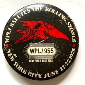 WPLJ 95.5 NY ROLLING STONES PIN
